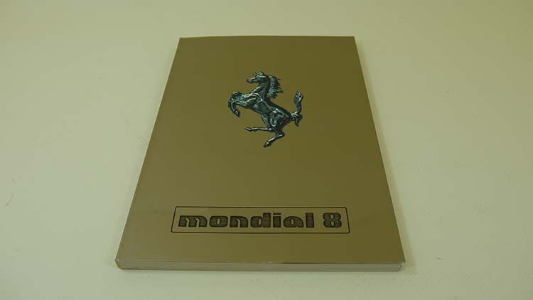 Ferrari Mondial 8 Owners Manual. ...